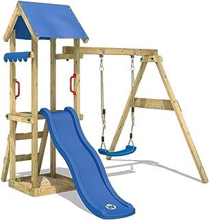 WICKEY parque infantil TinyWave de madera con columpio y tobogán