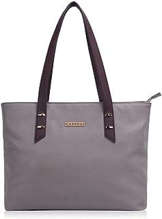 Caprese Mishi Women's Tote Bag (Grey & Brown)