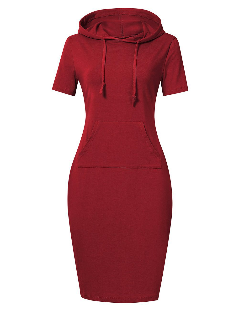 Available at Amazon: MISSKY Women Stripe Pocket Knee Length Slim Casual Pullover Hoodie Dress
