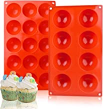 Silicone Baking Molds,Bakeware Set,2 Pack Muffin Cupcake Baking Pan for Cake Jelly Pudding Chocolate Making Desserts Servi...