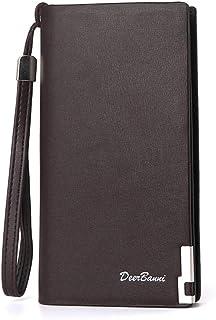 BeniNew long zero purse zip closure bag multi-card large capacity men's wallet-brown