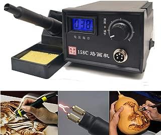 TOPCHANCES Professional Woodburning Detailer Laser Pyrography Machine Wood Burning Kit for Wood Leather,Christmas Nice Present (Single Digital Display)