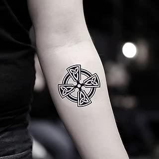Maltese Cross Temporary Fake Tattoo Sticker (Set of 2) - www.ohmytat.com