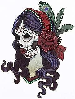 BESTPICKS Large Waterproof Fashion Temporary Tattoo Decal Sticker- GANGSTA GIRL- 14.5 X 21 cm Sheet