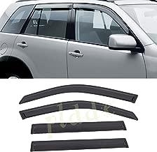 4pcs For 07-18 Jeep Wrangler 4-Door JK Sun Rain Guard Vent Shade Window Visors