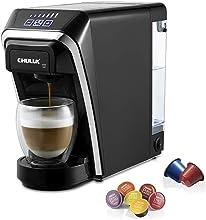 CHULUX Macchina da caffè a capsule multifunzione, compatibile con Nespresso e Dolce Gusto