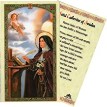Gifts by Lulee, LLC Saint Catherine of Sweden Patron of Those Who Have Suffered a Miscarriage Blessed Laminated Italian Holy Card with Gold Accents