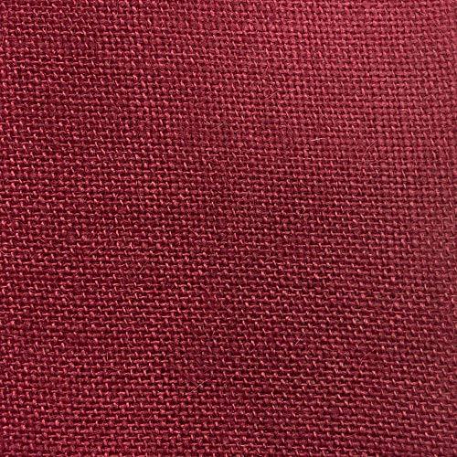 Kt KILOtela Tela por Metros de arpillera/Saco - Yute - Manualidades, Costura - Ancho 147 cm - Largo a elección por Metro | Color Granate