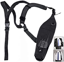 abcGoodefg Universal Left Side Radio Shoulder Holster Chest Harness Holder for Two Way Radios Walkie Talkie Rescue Essentials