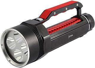 [jiroo] ダイビングライト 8000ルーメン 6灯 充電式LED 水中ライト ダイビング仕様 CREE XML- L2 LED 最大120m 2-3時間連続点灯