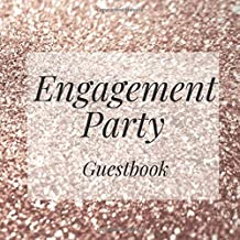 Engagement Party Guestbook: Gold Glitter Event Signing Guest Book - Visitor Message w/ Photo Space Gift Log Tracker Recorder Organizer Address ... for Special Memories/Party Reception Table