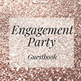 Engagement Party Guestbook: Gold Glitter...