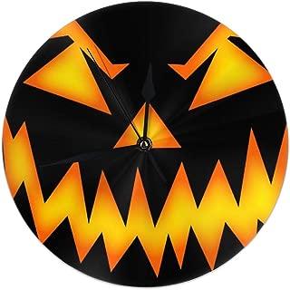 KOAJNF Home Clock,Scary-Halloween-Face Retro Arabic Numerals Style, Silent Non -Ticking Wall Clock, Large Wall Art Decorative