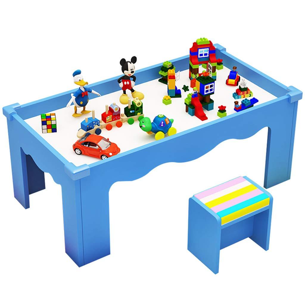 Juegos de mesas y sillas Mesa de Madera para niños Mesa de Juegos multifunción Juego de construcción de Bloques de construcción de Rompecabezas Mesa de Estudio de educación: Amazon.es: Hogar