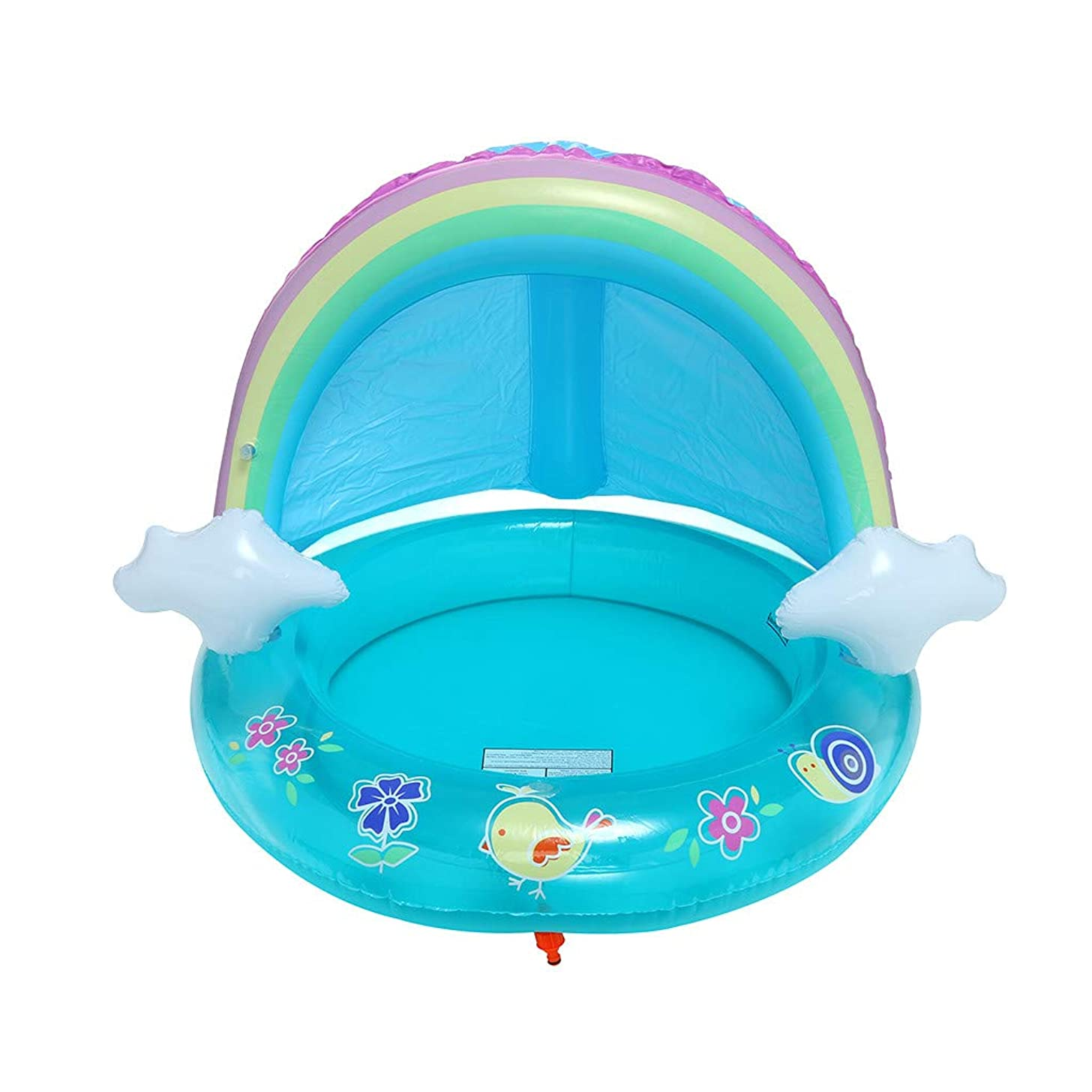 Jiayit US Fast Shipment Rainbow Children's Spray Ring Baby Pool, Rainbow Splash Pool with Canopy, Spray Pool of 40In, Water Sprinkler