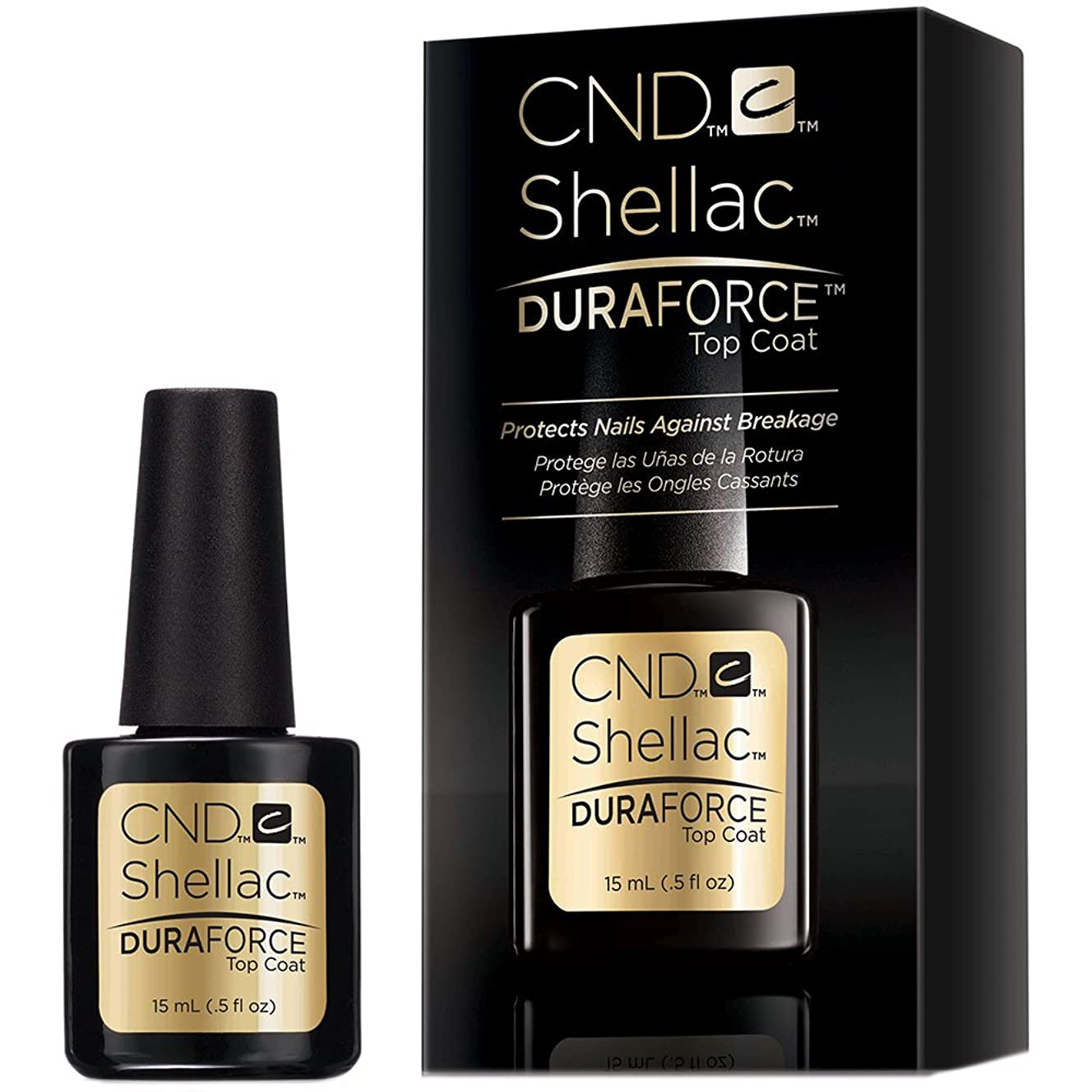 大人珍しいバケットCND Shellac Gel Polish - Duraforce Top Coat - 0.5oz / 15ml