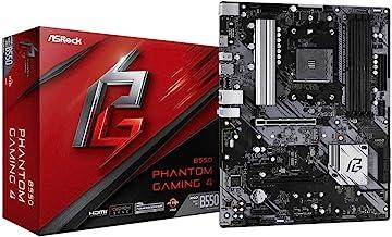 ASRock B550 Phantom Gaming 4 Supports 3rd Gen AMD AM4 Ryzen/Future AMD Ryzen Processors Motherboard