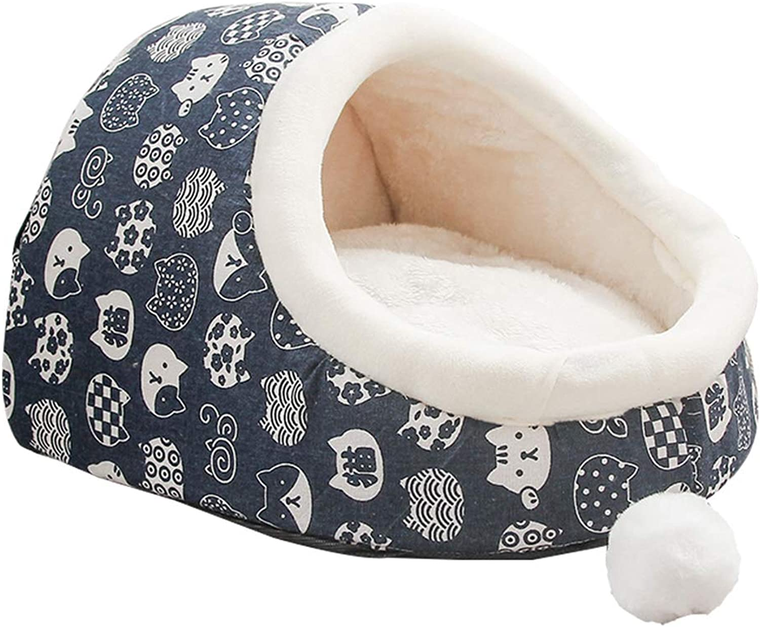 Home of Boutique Indoor Dog Cat Bed House, Pet Beds Warm Soft Washable for Small Medium Dogs and Cats,L