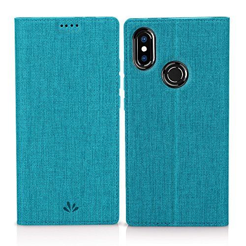 Eastcoo Xiaomi Mi A2 Hülle, Flip Folio Wallet Leder Smart Hülle Tasche Schutzhülle Handyhülle mit [Wake up][Standfunktion][Magnetic Closure] für Xiaomi Mi A2 (Mi A2, Blue)