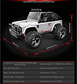Remote Climbing Car, Off-Road Rock High Speed Drift Race Car, Remote Wireless Control Rechargeable Children's Toys, Boys and Girls Teen Adult Cool Gadgets (Color : Silver)