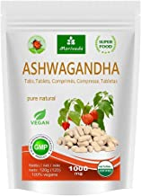 Ashwagandha Tablets 1000mg – Pure Natural Product in top Quality – Winter Cherry Indian Ginseng 120 Tablets Estimated Price : £ 18,59