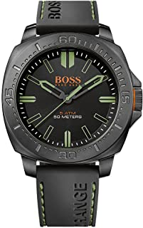 Boss Men's Analogue Classic Quartz Watch with Rubber Strap 1513254 (Black/Black)