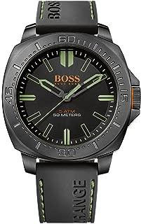 Boss Men's Analogue Classic Quartz Watch with Rubber Strap 1513254 (Black/Black)