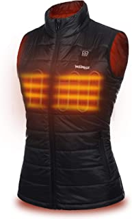 Women's Lightweight Heated Vest Jacket with Battery Pack, Heat Clothing for Winter Warm with Pockets