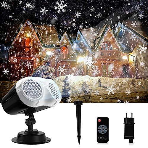 ROVLAK Luces de Proyector de Navidad LED IP65 Impermeable Lámpara de Proyección...