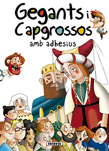 Gegants i Capgrossos amb adhesius (Contes i tradicions catalanes amb adhesius)