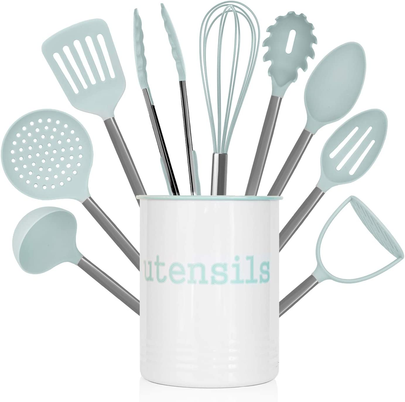 Country Kitchen 10 Piece Industry No. 1 Nylon with Set Utensil Holder Spasm price Cooking