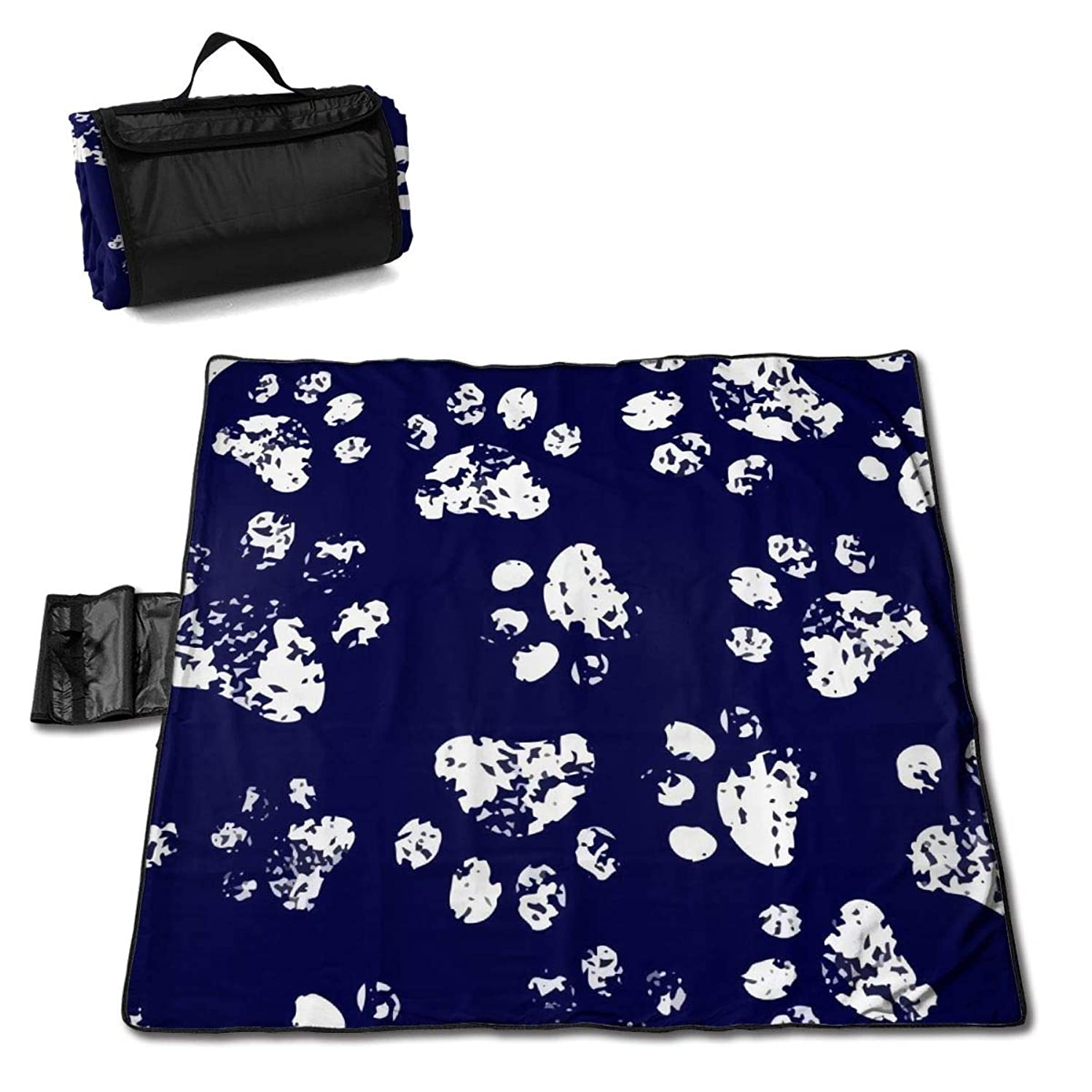 Socira Paw Large Picnic Blanket Water Resistant Beach Blanket Machine Washable Outdoor Blanket Folds Into A Tote Bag
