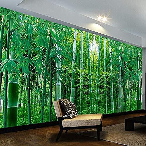 HD Bamboo Forest Landscape 3D Estéreo Wallpaper Bamboo Fresh Covering Wallpaper Sala de estar Dormit Pared Pintado Papel tapiz 3D Decoración dormitorio Fotomural sala sofá pared mural-150cm×105cm