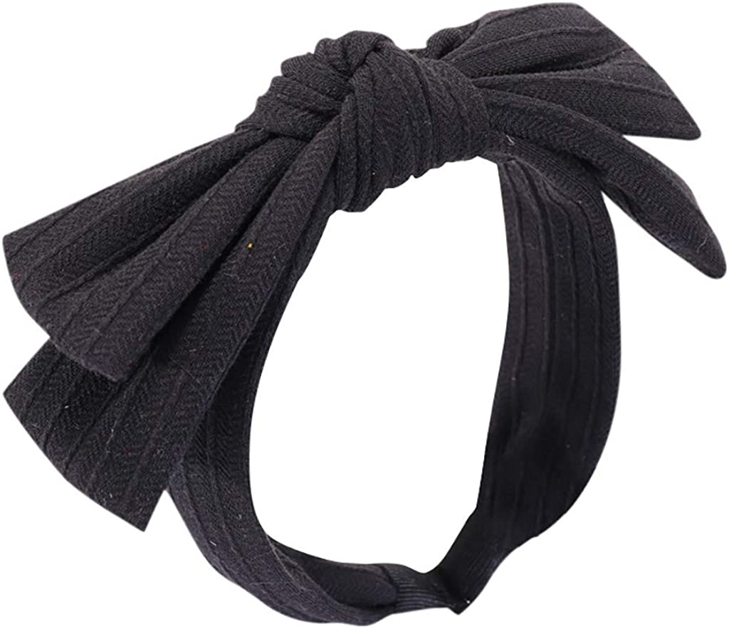 Kulywon Headband Fabric Braided Large Bow Wide Side and Toothed Non-Slip Hair Band 2021