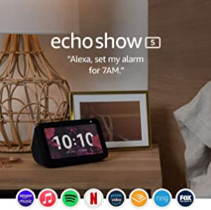 Echo Show 5 (1st Gen) – Compact smart display with Alexa - Charcoal Fabric