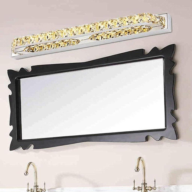 JZX Badezimmerspiegelleuchte, Crystal LED Edelstahlspiegel