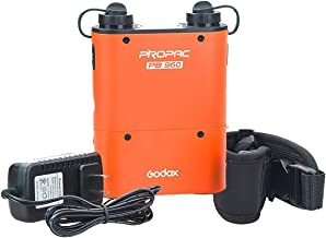 Godox Propac PB960 Flash Power Battery Pack Dual Output for Canon Sony Nikon Metz Camera (Orange)