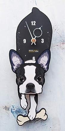D-181 ボストンテリア- ペットの振り子時計