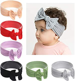 DANMY Baby Girl Nylon Headbands Newborn Infant Toddler...