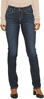 Silver Jeans Co. Women's Avery Curvy Fit High-Rise Straight Leg Jeans