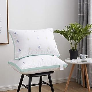 Nobranded Almohada de algodón de 48 x 74 cm, núcleo de algodón, almohada de hotel, almohada de algodón, almohada de núcleo elevado almohada corta almohada de compresión
