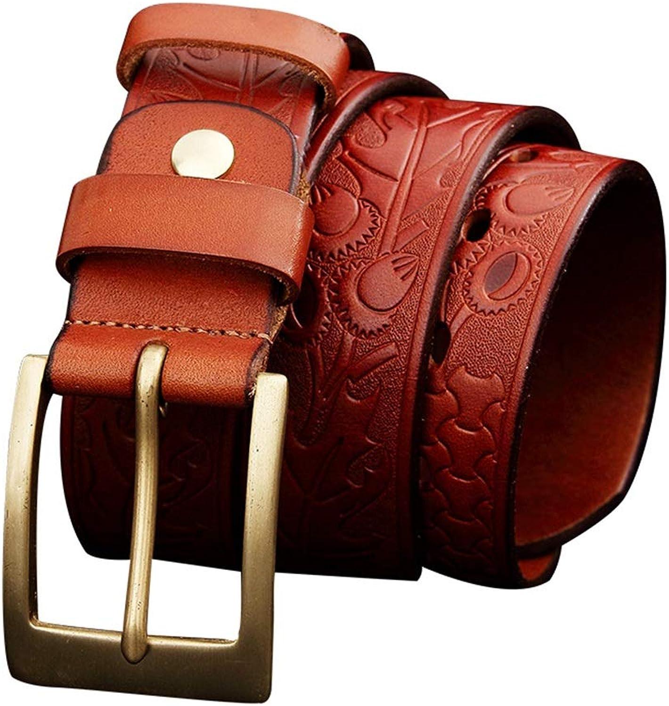 Ladies Belt Ladies Leather Embossed Belt Skinny Waist Or Hips Ornament