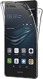 AICEK Funda Huawei P9 Lite, Transparente Silicona 360°Full Body Fundas para Huawei P9 Lite Carcasa Silicona Funda Case (5.2