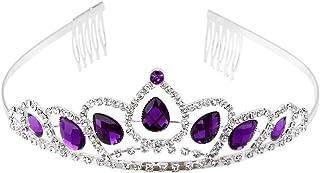 WINOMO Wedding Bridal Prom Shining Rhinestone Crown Princess Tiara Headband Headpiece with Comb