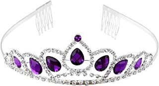 WINOMO Wedding Bridal Prom Shining Rhinestone Crown Princess Tiara Headband Headpiece with Comb