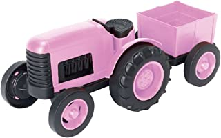 girls pink tractor