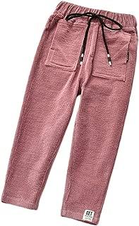 PanpanBox Fille Jeans Evas/é Denim Pantalon Cargo Bootcut Gamins Pants Stretch Pantalon D/écontract/é 3-11 Ans
