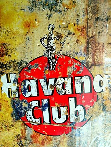 RABEAN Havana Club Blechschilder Aluminium Schilder Eisen Malerei Blech Plakat Warnung Plakette hängende Kunst Plakate Dekorative Cafe Bar