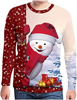 Hooded Sweatshirt for Men 3D Print Hoodies Snowman O-Neck Blouse for Christmas Outwear Tracksuit Blouse WEI MOLO