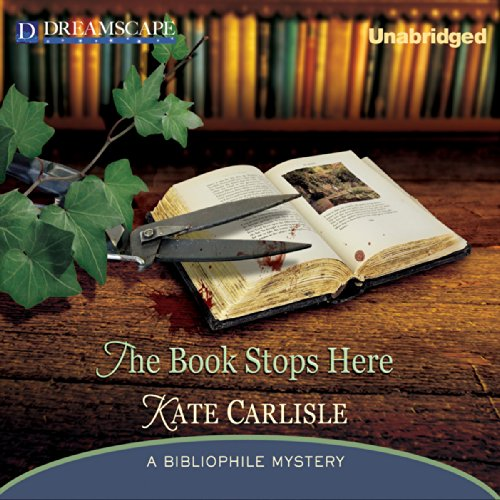 The Book Stops Here     A Bibliophile Mystery              By:                                                                                                                                 Kate Carlisle                               Narrated by:                                                                                                                                 Susie Berneis                      Length: 9 hrs and 57 mins     150 ratings     Overall 4.4